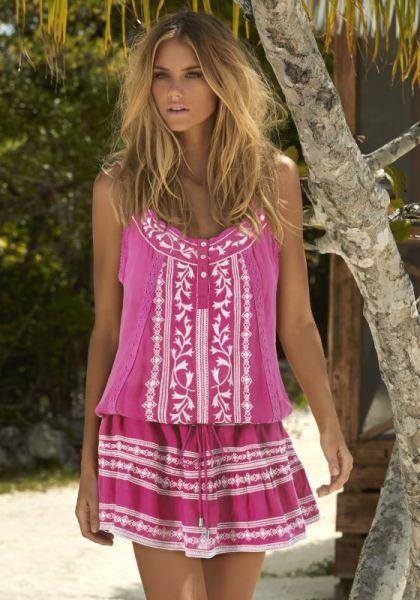 Melissa Odabash Jaz Dress Flamingo