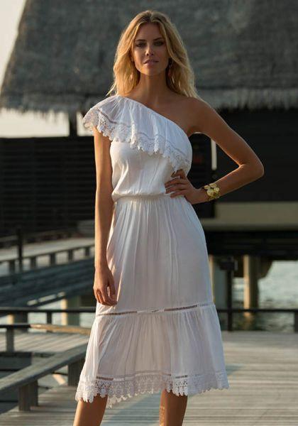 Melissa Odabash Jo Dress White