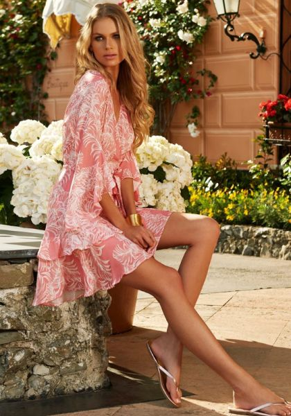Melissa Odabash Kirsty Dress Tropical Coral