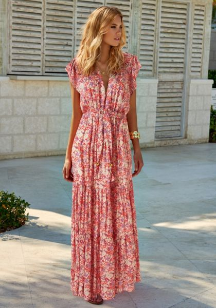 Melissa Odabash Sammy Dress Ditsy Pink