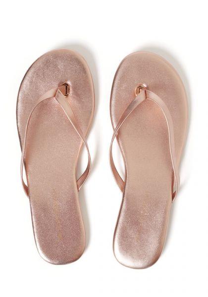Melissa Odabash Rose Gold Sandals
