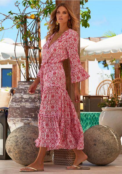 Melissa Odabash Skye Dress Amalfi Red
