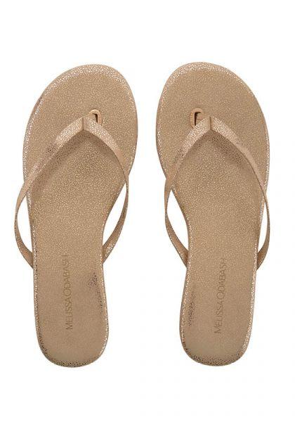 Melissa Odabash Sandals Gold Sparkle