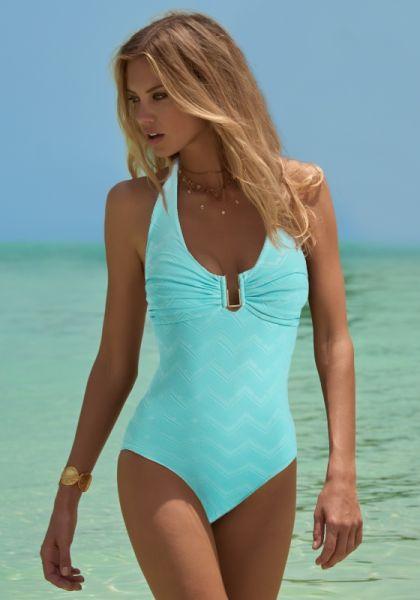 Melissa Odabash Tampa Swimsuit Zig Zag Sky