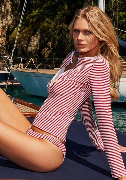 Melissa Odabash Cali Top Nautical Red
