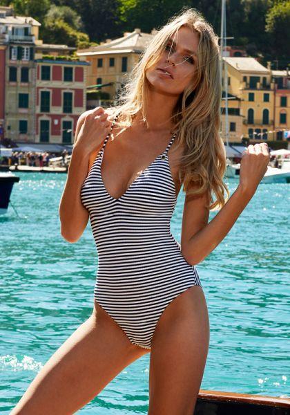 Melissa Odabash Catalina Swimsuit Navy