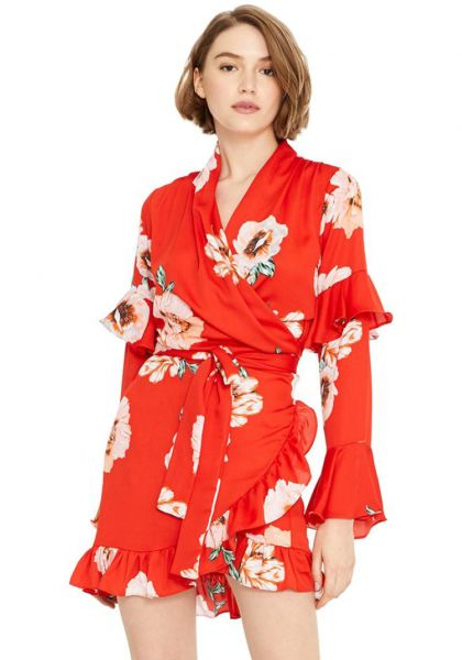 Skylar Dress Poppy Floral