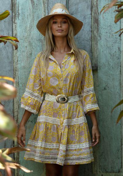 Miss June Adriana Dress Yellow