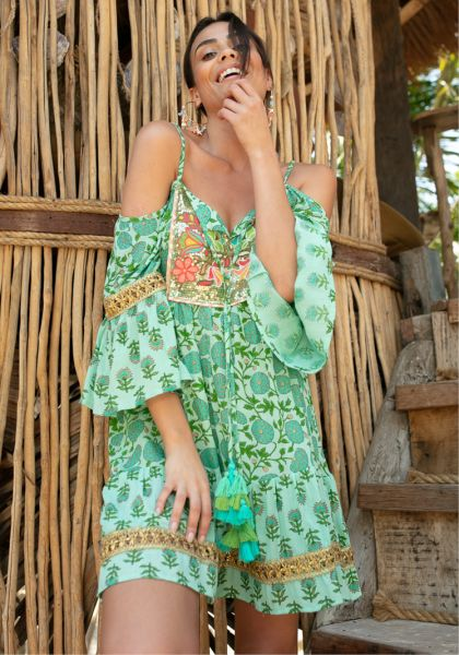 Miss June Andy Dress Green