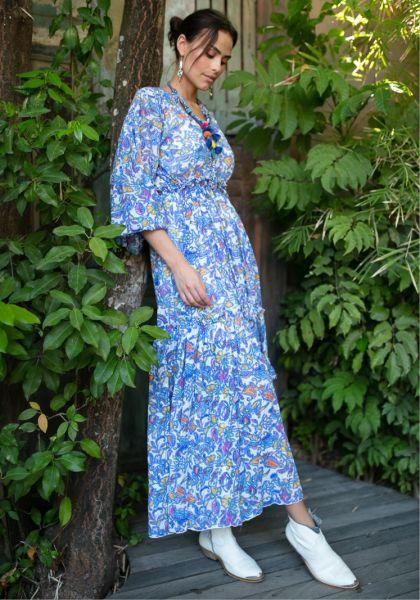 Miss June Carly Dress Blue