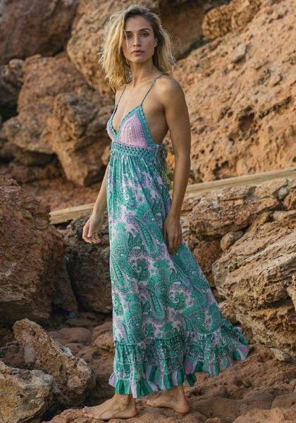 Miss June Charm Dress Aqua