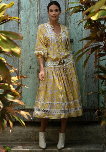 Miss June Eloise Dress Yellow