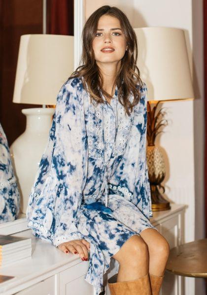 Miss June Flowy Dress Blue