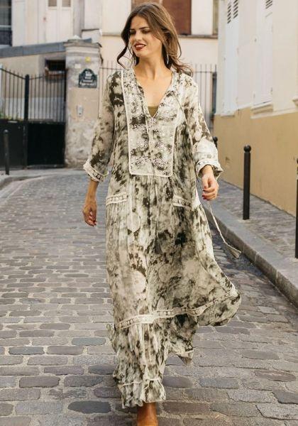 Miss June Lova Dress Khaki