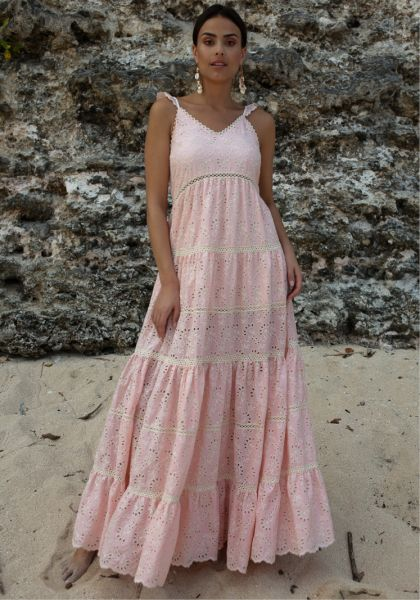 Miss June Rose Bowl Dress Peach
