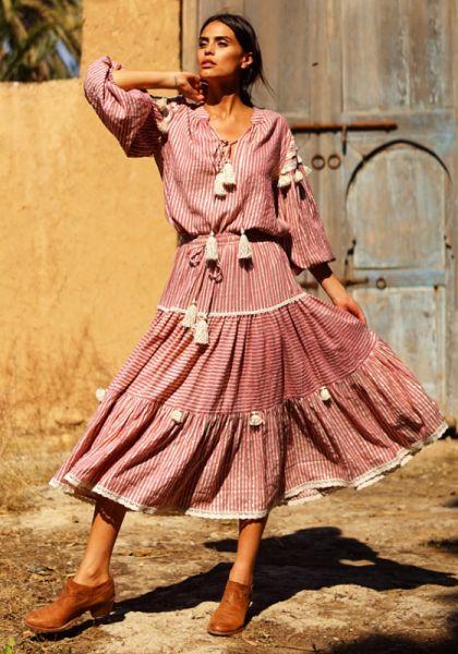 Miss June Tricia Skirt Raspberry