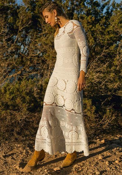 Miss June Yam Dress White