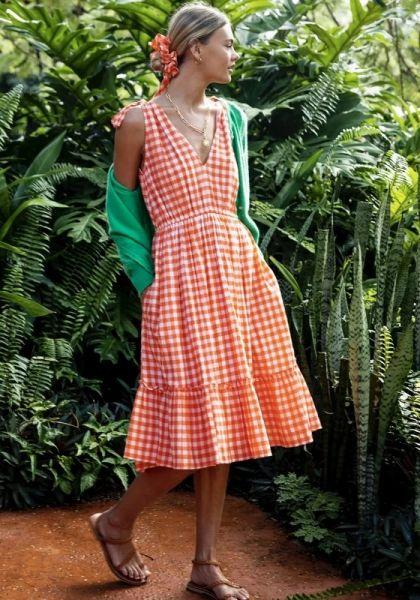 Pink City Prints Jasmin Short Dress Clementine