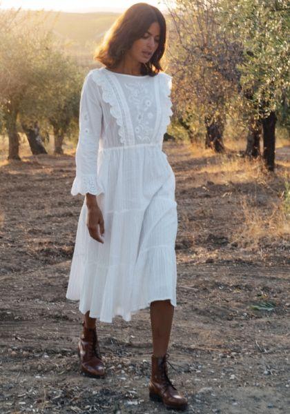 Pink City Prints Reena Dress White