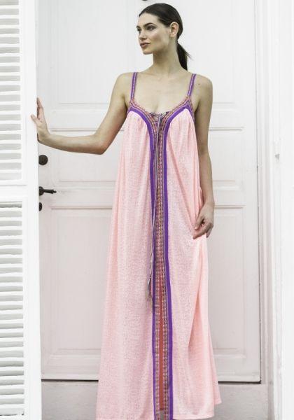 Pitusa Cheetah Goddess Dress Salmon