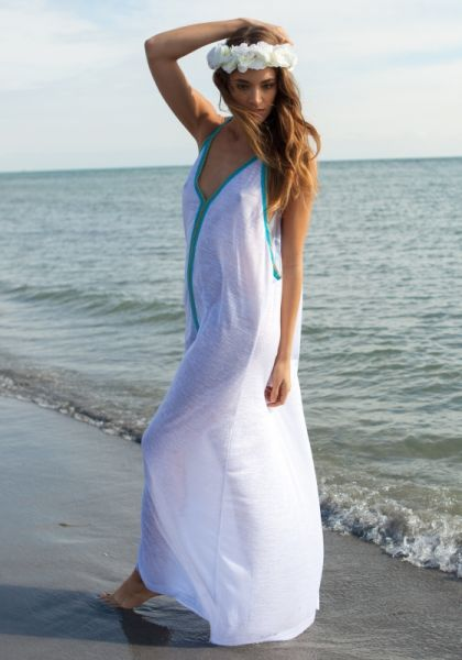 Pitusa Inca Beach Dress White
