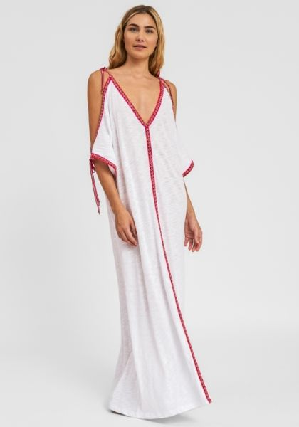 Pitusa Pima Ottoman Dress White