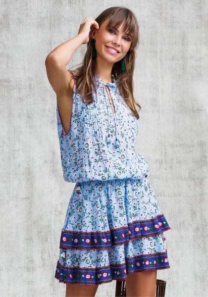 Poupette St Barth Layered Amora Dress Blue Margot