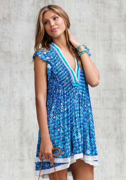 Poupette St Barth Sasha Dress Blue Batik