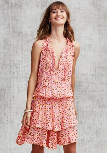 Poupette St Bart Mini Layered Amora Dress Pink Papilon