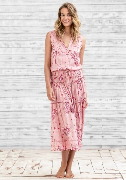Poupette St Barth Long Elodie Dress Pink Marble