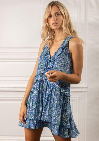 Poupette St Barth Mae Dress Blue Malva