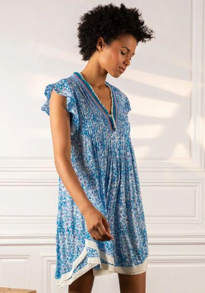 Poupette St Barth Sasha Dress Blue Hortensia