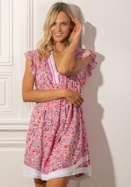 Poupette St Barth Mini Sasha Dress Pink Malva