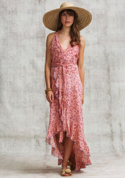 Poupette St Barth Long Tamara Ruffled Dress