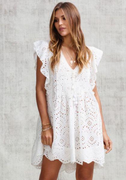 Poupette St Barth Mini Mila Lace Dress
