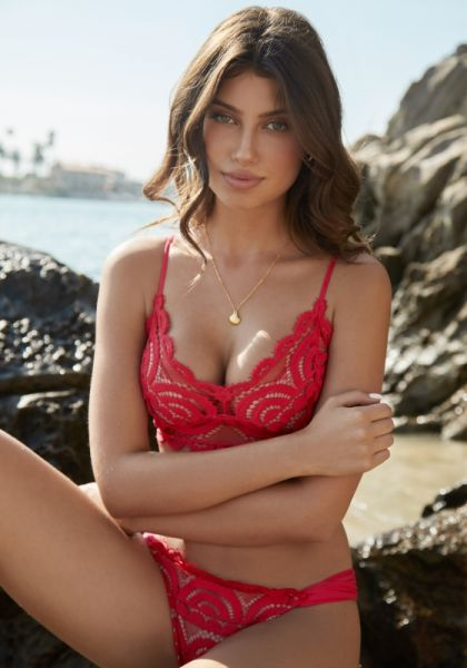 PQ Swim Crimson Lace Bralette Bikini