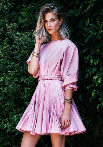 Rhode Resort Ella Dress Dusty Pink