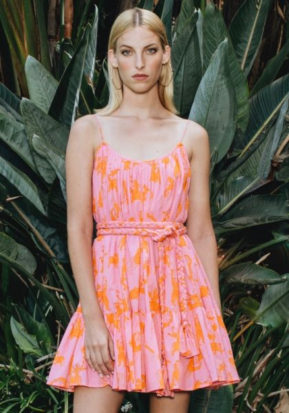 Rhode Resort Nala Dress Pink/Orange