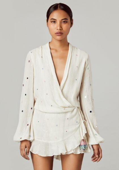 Rococo Sand Short Dress Off White