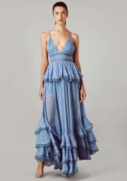 Rococo Sand Long Blue Maxi Dress