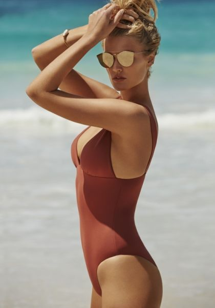 Seafolly Active V Neck Swimsuit