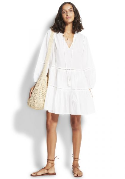 Seafolly Bayside Trim Dress White