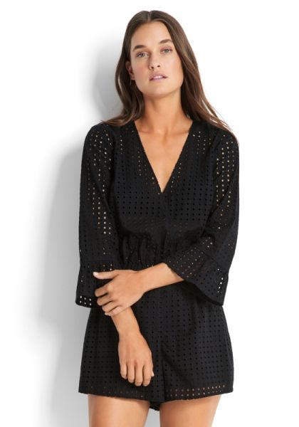 Seafolly Castaway Broderie Playsuit