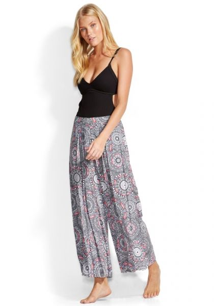 Seafolly Crochet Print Pants