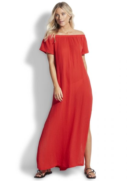 Seafolly Double Cloth Strapless Dress
