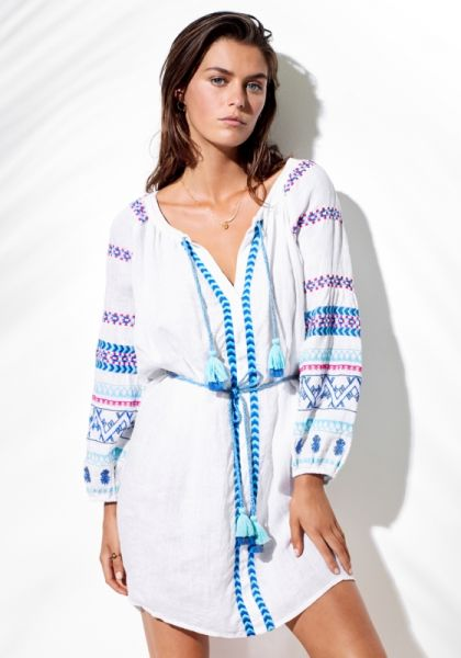 Seafolly Folk Embroidered Dress