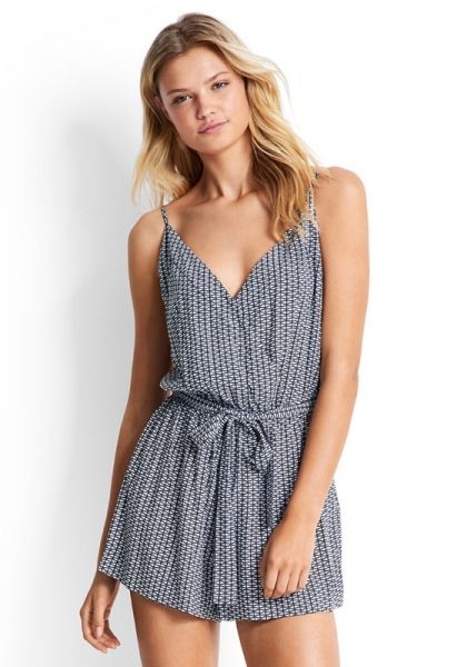 Seafolly Geo Print Tie Playsuit