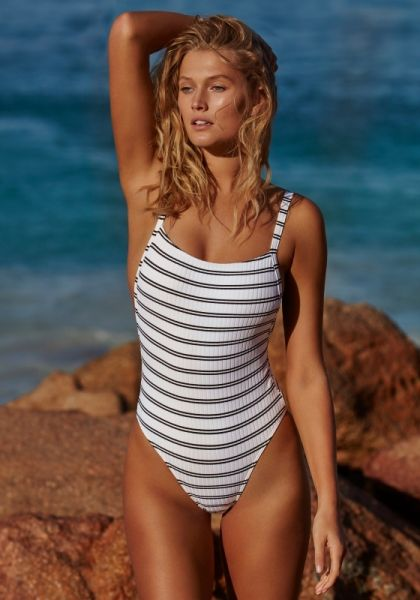 Seafolly Inka Stripe Tank Swimsuit