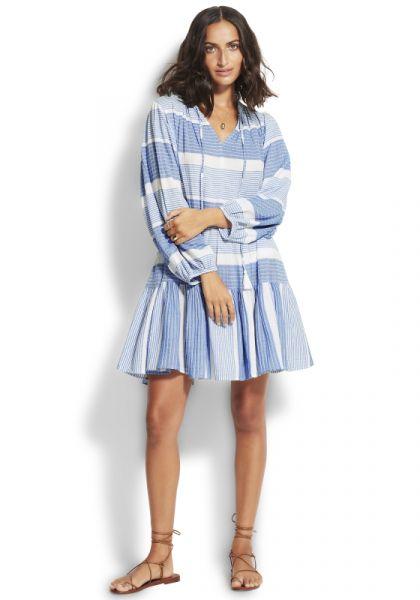 Seafolly Jacquard Dress Blue