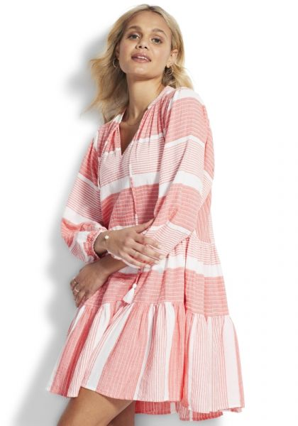 Seafolly Jacquard Dress Sugar Coral